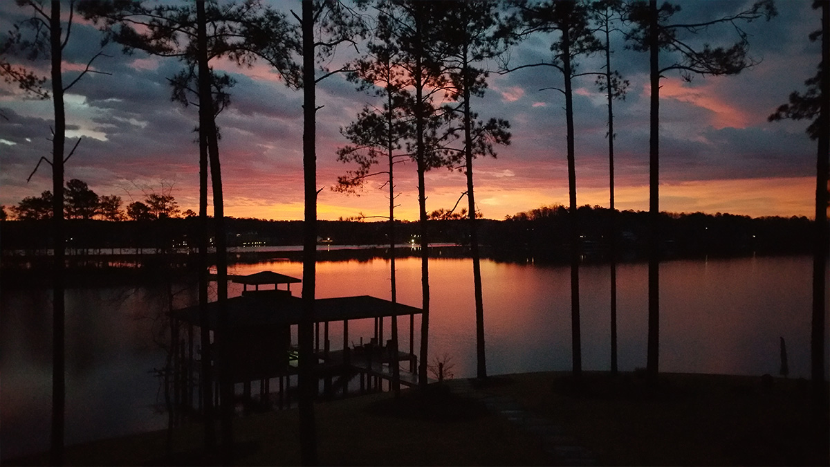 Lake Martin House sunset